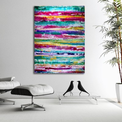 Color Field and Mirrors by painter Nestor Toro