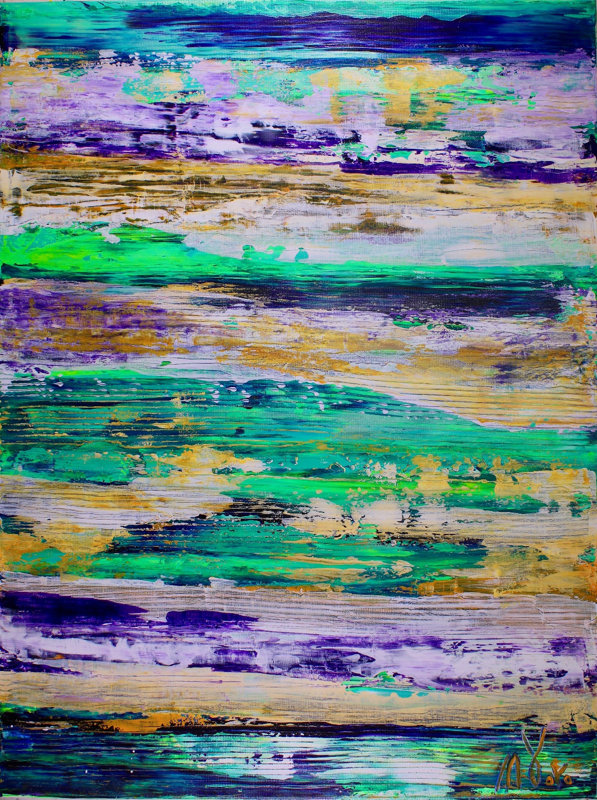 Boundless Terrain (2017) Edit Acrylic painting by Nestor Toro