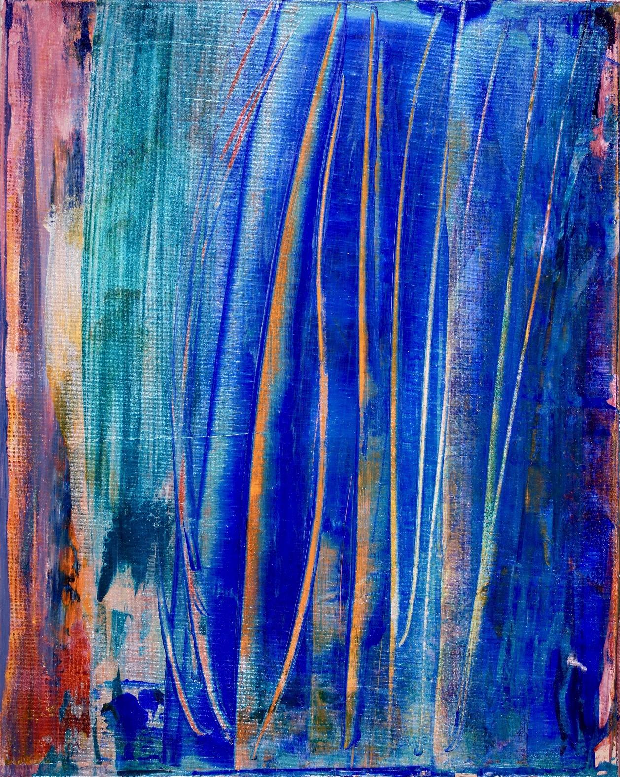 SOLD - Interrupted Frequencies (2018) - Left Canvas / Diptych / Artist: Nestor Toro