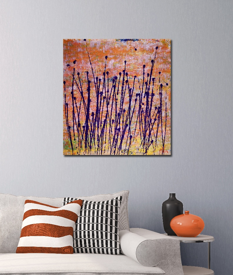 Sunny Drizzles 2 (2018) Acrylic painting by Nestor Toro