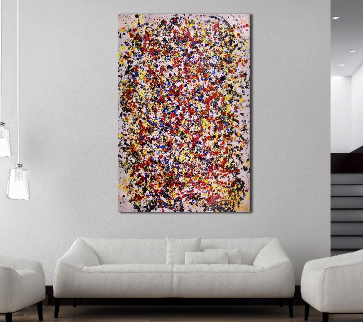 SOLD - Colors Migration 2 (2018) Acrylic painting by Nestor Toro in Los Angeles