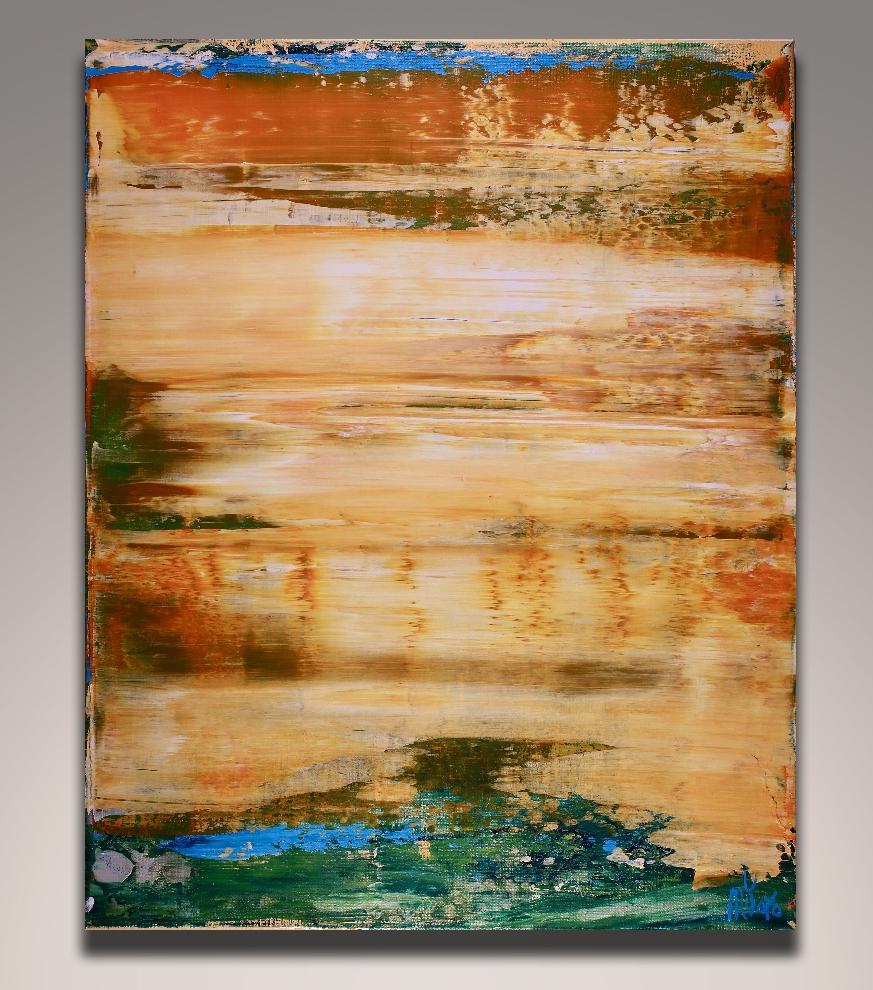 Distant Golden Desert (2018) Acrylic painting by Nestor Toro in Los Angeles