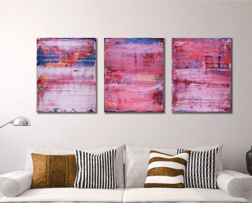 SOLD - Pretty in Pink (During, Before and after) (2018) Abstract painting by Nestor Toro