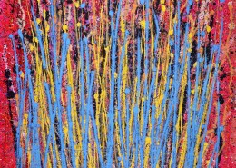 SOLD - Drizzles in motion Edit Acrylic painting by Nestor Toro in Los Angeles