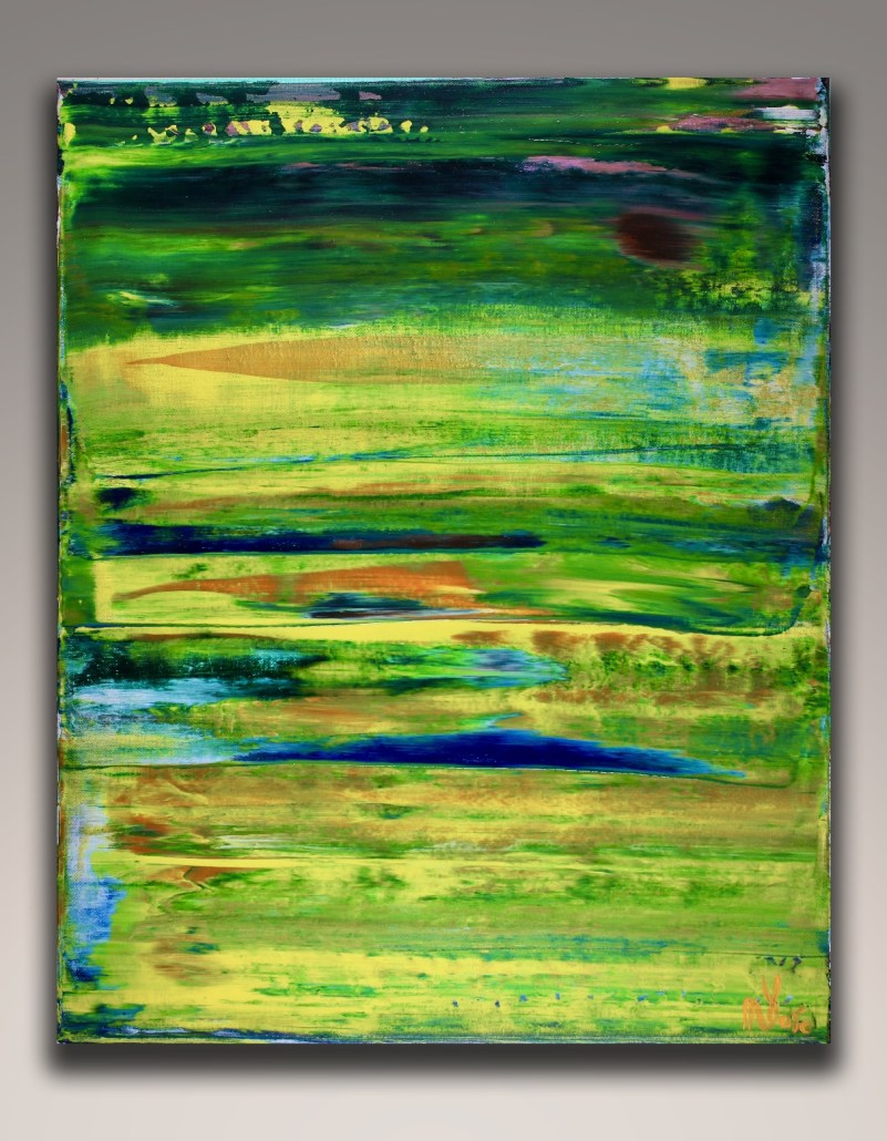 SOLD - Sky walking 6 (2018) Abstract painting by Nestor Toro in L.A.