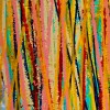 SOLD - Detail / Interrupted Panorama 5 (2018) Acrylic painting by Nestor Toro