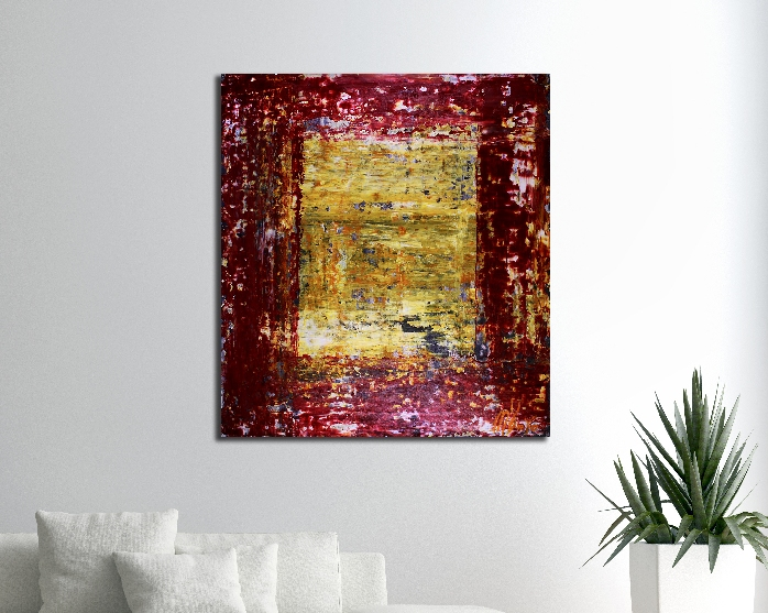 End of the Tunnel (2018) abstract art - Acrylic painting by Nestor Toro