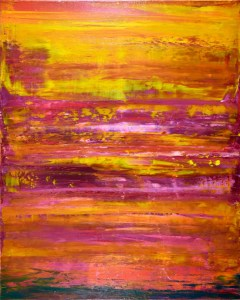 SOLD - Ablaze Sunshine by Nestor Toro - 30x24 inches