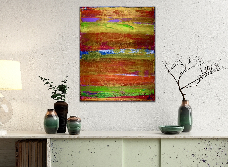 Illusion spectra 1 (2018) Edit Acrylic painting by Nestor Toro