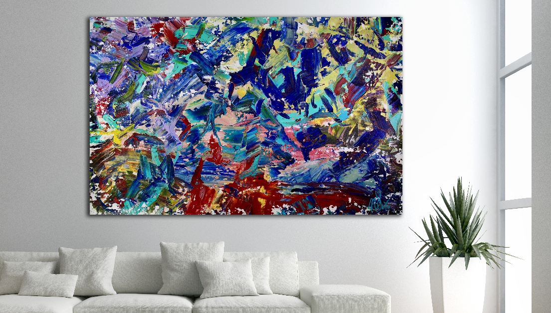 Dream In Colors by Nestor Toro (2018) Abstract art - Acrylic painting by Nestor Toro