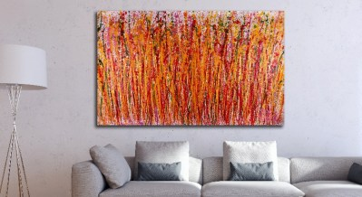Drizzle Explosion (2018) abstract art Acrylic painting by Nestor Toro / SOLD ABSTRACT PAINTING