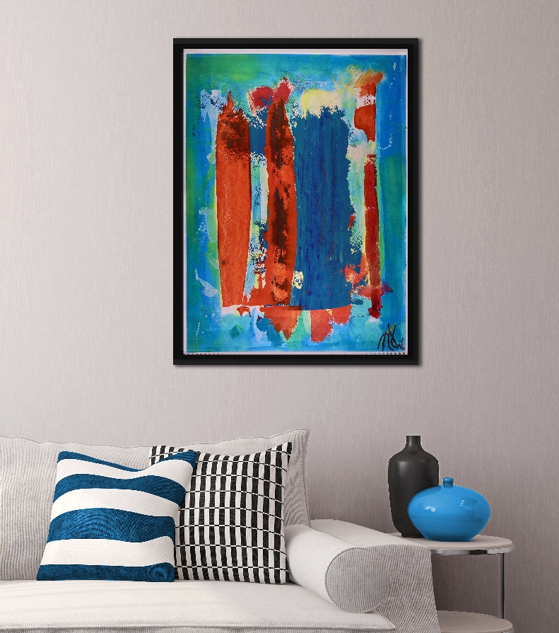 SOLD - Orange Windows (2018) by Nestor Toro - SOLD