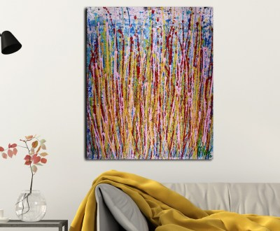 Momentum 2 (2018) Abstract Art Acrylic painting by Nestor Toro