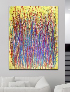SOLD ABSTRACT EXPRESSIONIST ART - Dawn Drizzles (2018) abstract art Acrylic painting by Nestor Toro in Los Angeles
