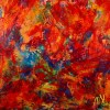 SOLD / Red Forest Abstract - BOLD STATEMENT ARTWORK! (2016) abstract art Acrylic painting by Nestor Toro