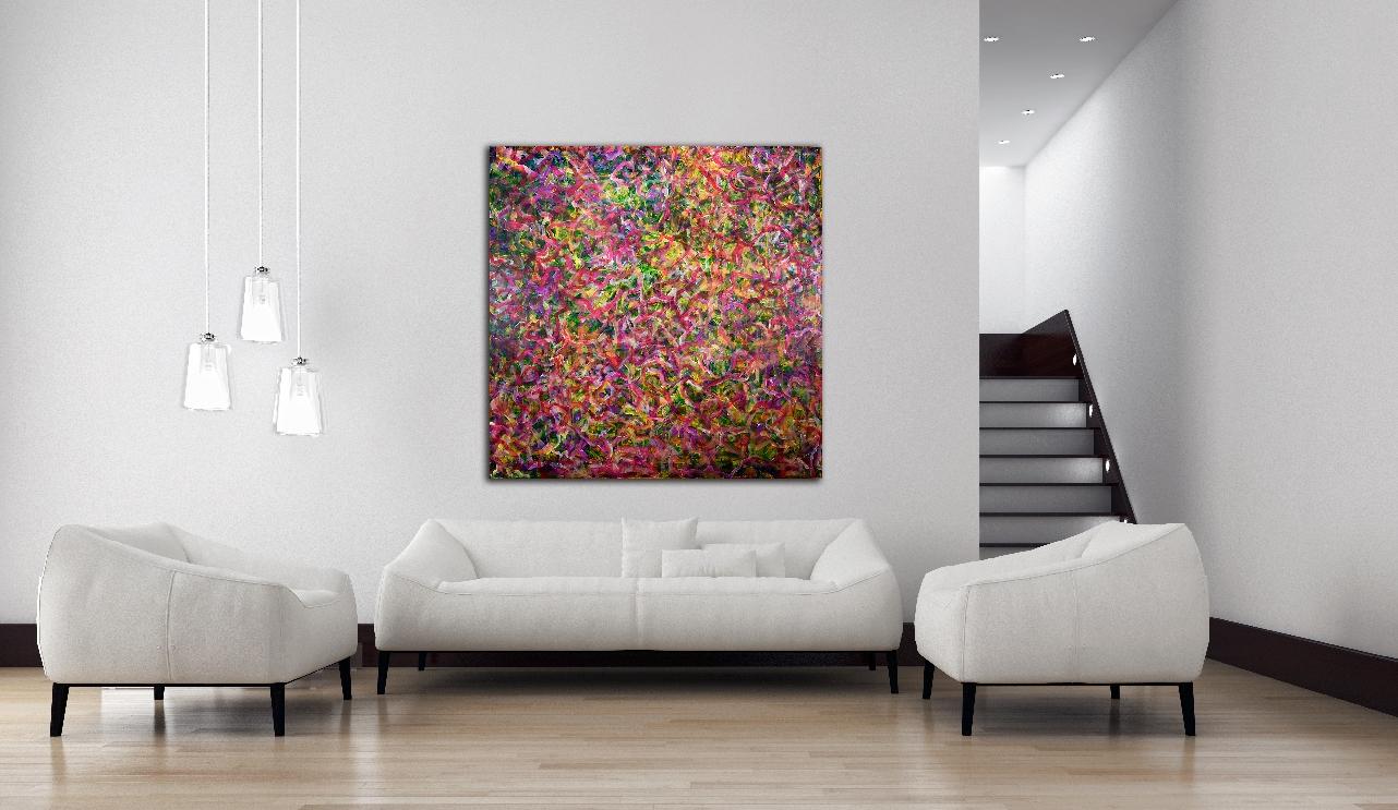 Summer Walk (2016)abstract art Acrylic painting by Nestor Toro