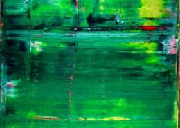 Sold abstract art Emerald Garden by Nestor Toro