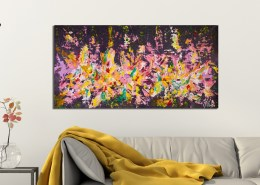 SOLD - A night of secrets (2018) abstract art Acrylic painting by Nestor Toro