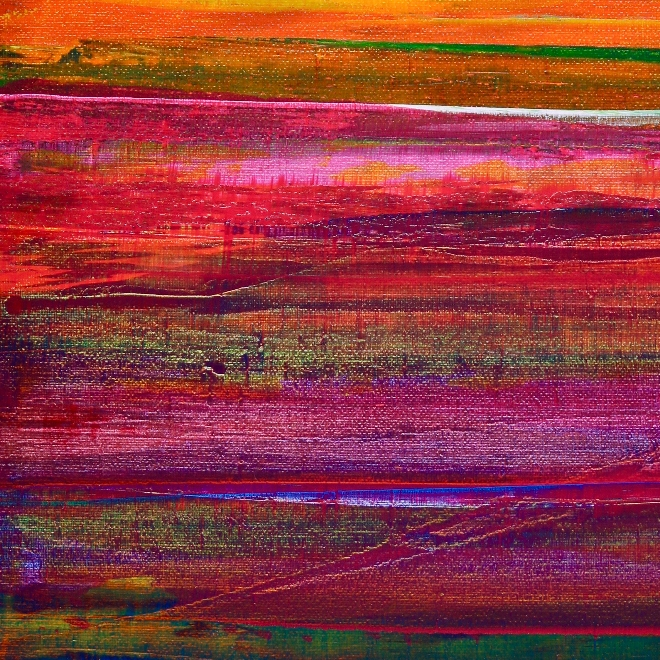 Color revival in Los Angeles 2 by Nestor Toro (2018) Abstract Acrylic painting by Nestor Toro