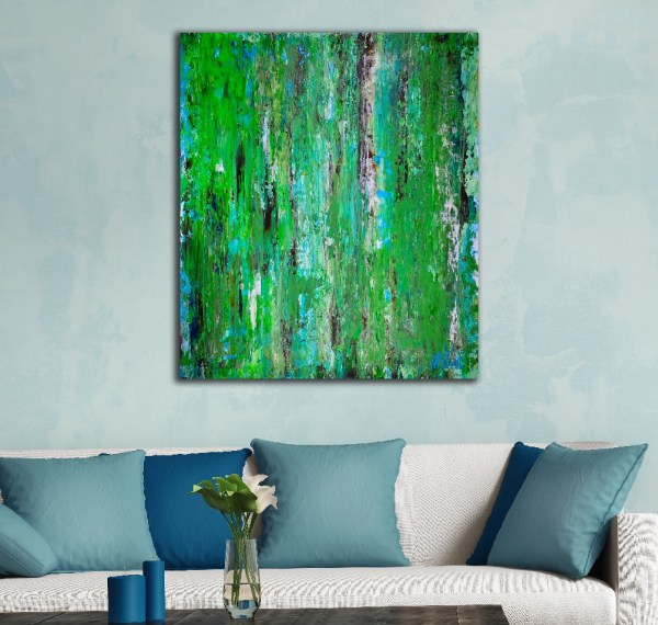 Expressionistic abstract Acrylic painting