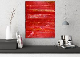 SOLD - Copper Landscape (2017) abstract expressionist Acrylic painting by Nestor Toro