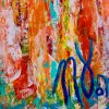 Full Image / Echoes in paradise- BOLD! statement piece (2018) Expressionist Acrylic painting by Nestor Toro