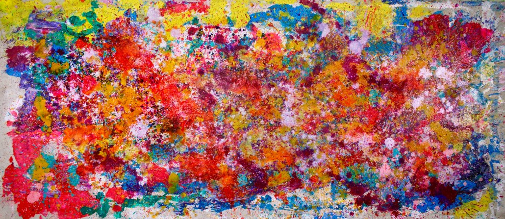 SOLD - Sonic Frequencies (2017) Abstract Acrylic painting by Nestor Toro