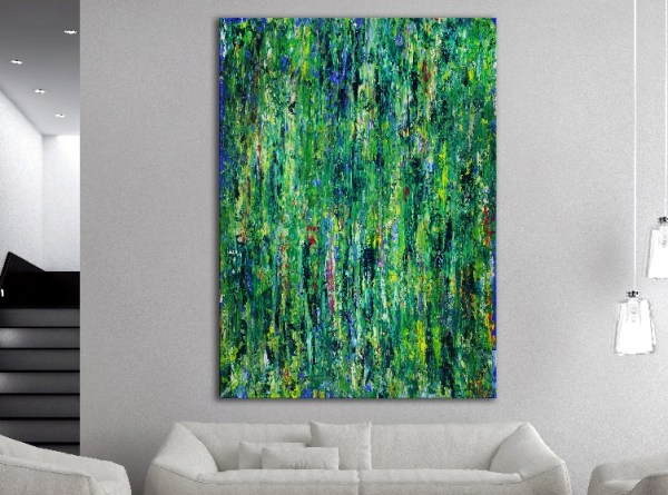 SOLD - Green Frenzy in context view by Nestor Toro / Los Angeles