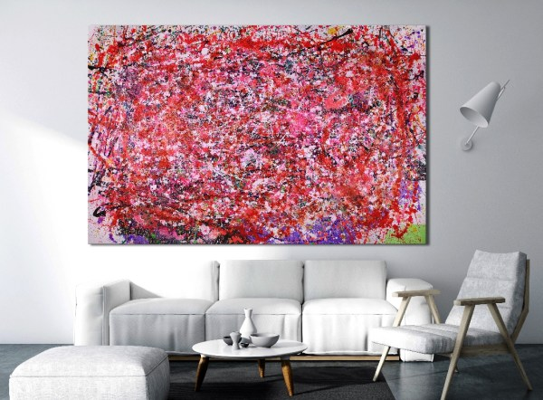 SOLD - Shimmering lights and gestures (2018) Abstract Acrylic painting by Nestor Toro