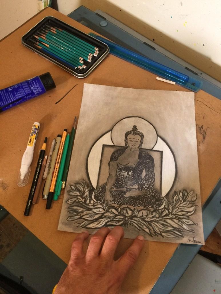Drawing a Buddha