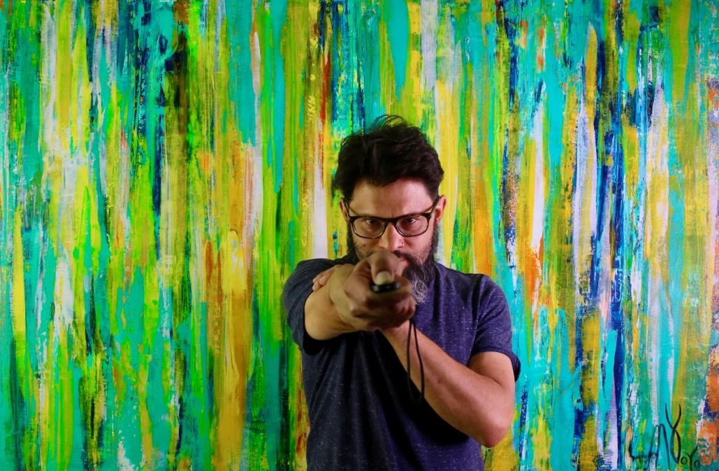 Nestor Toro - Self-portrait with New Work in L.A. Studio