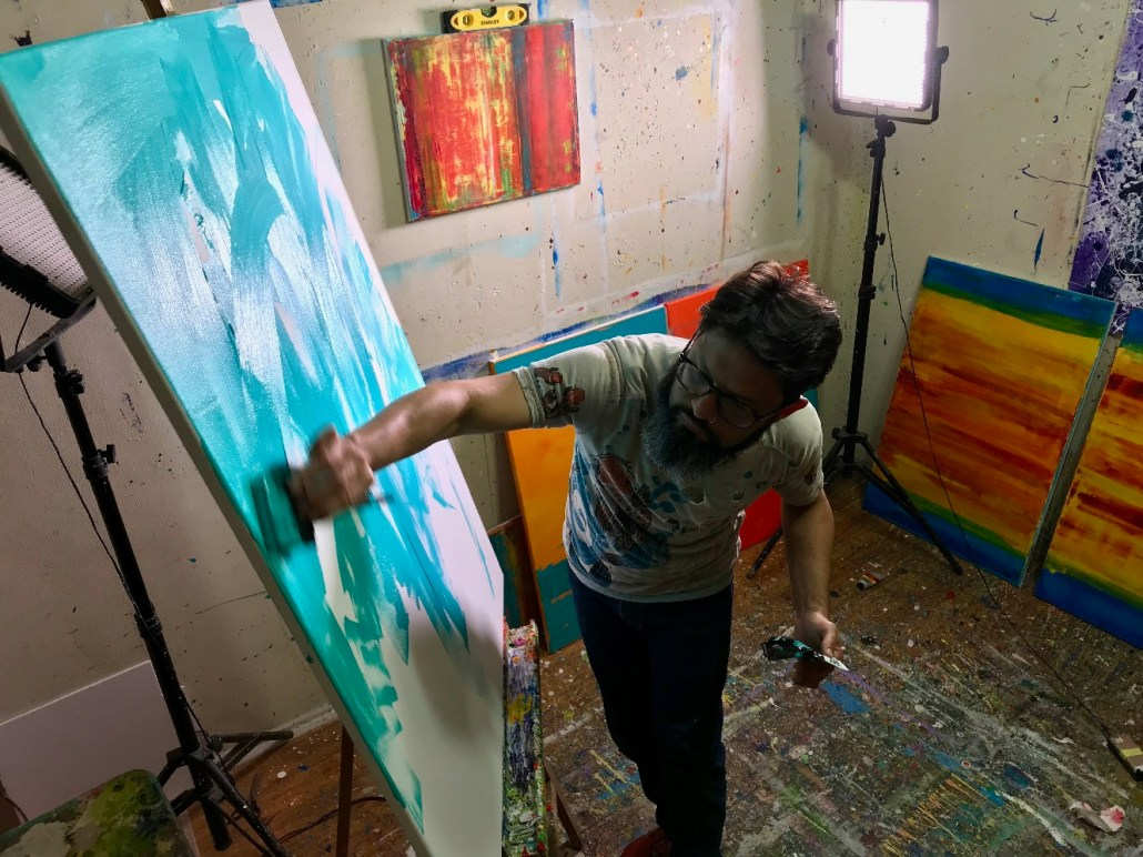 Nestor Toro working in his L.A. Studio - West Hollywood