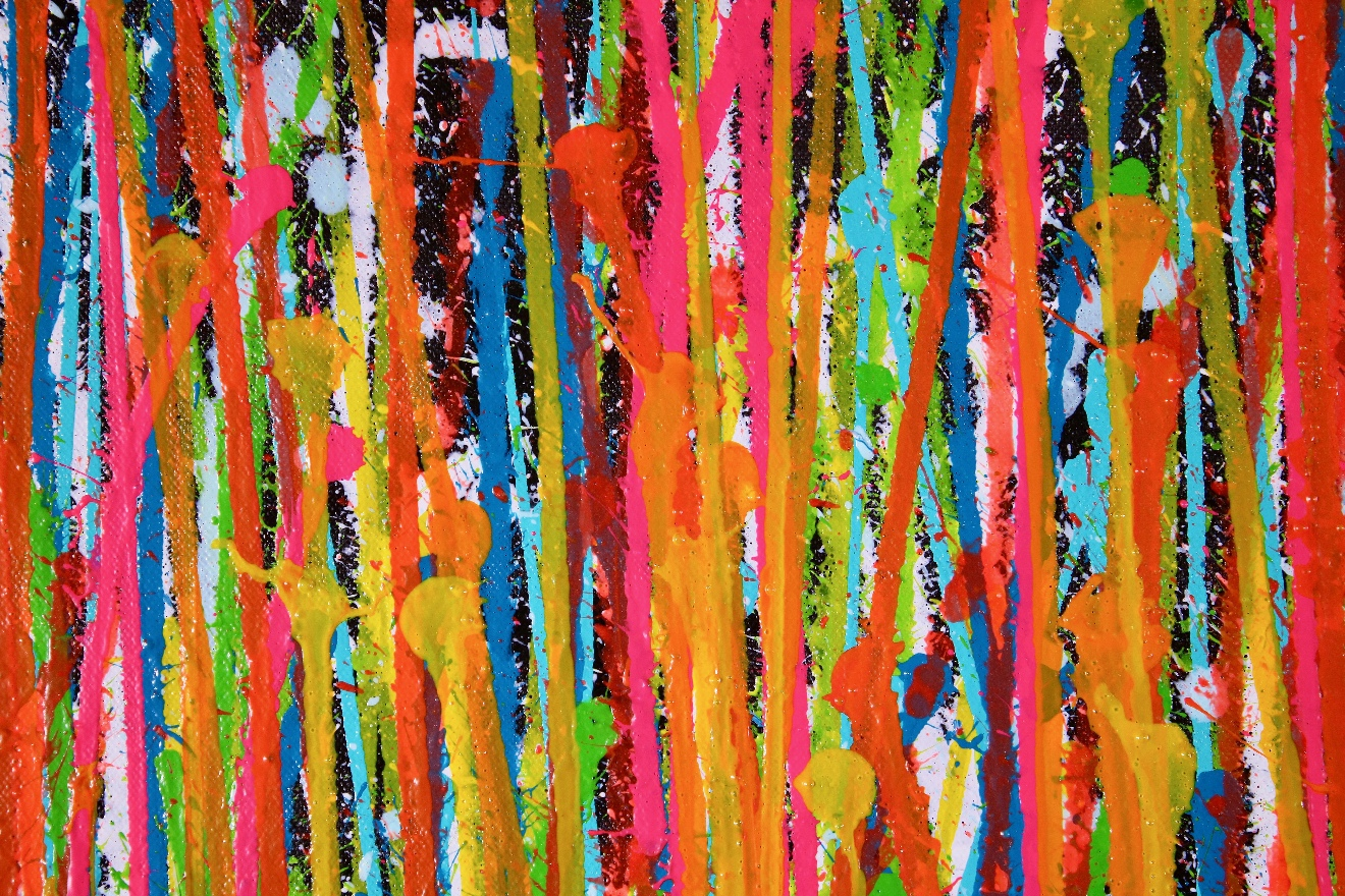 Detail - Consciousness Garden 2 - (2019) Abstract Acrylic painting by Nestor Toro