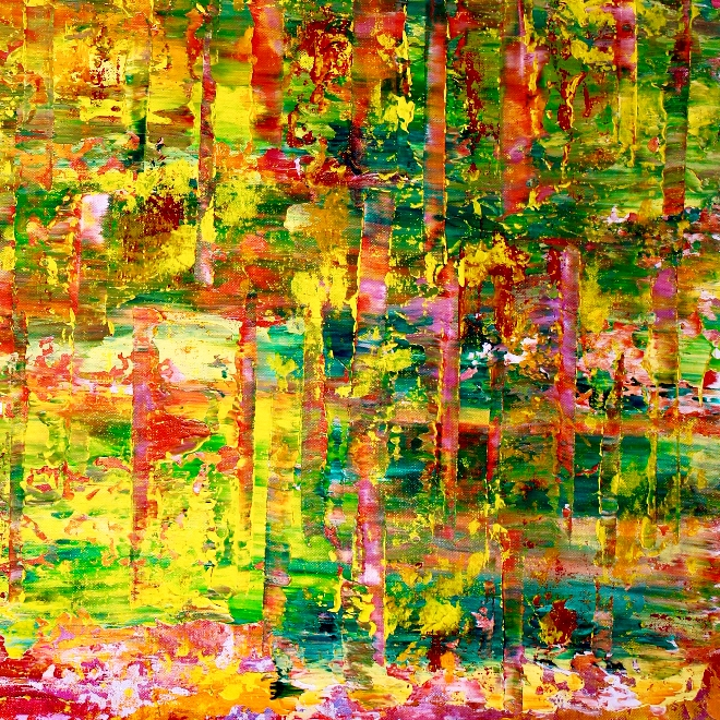 Detail - Caribe forest spectra (2018) Abstract Acrylic painting by Nestor Toro