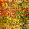 Full Image - Caribe forest spectra (2018) Abstract Acrylic painting by Nestor Toro