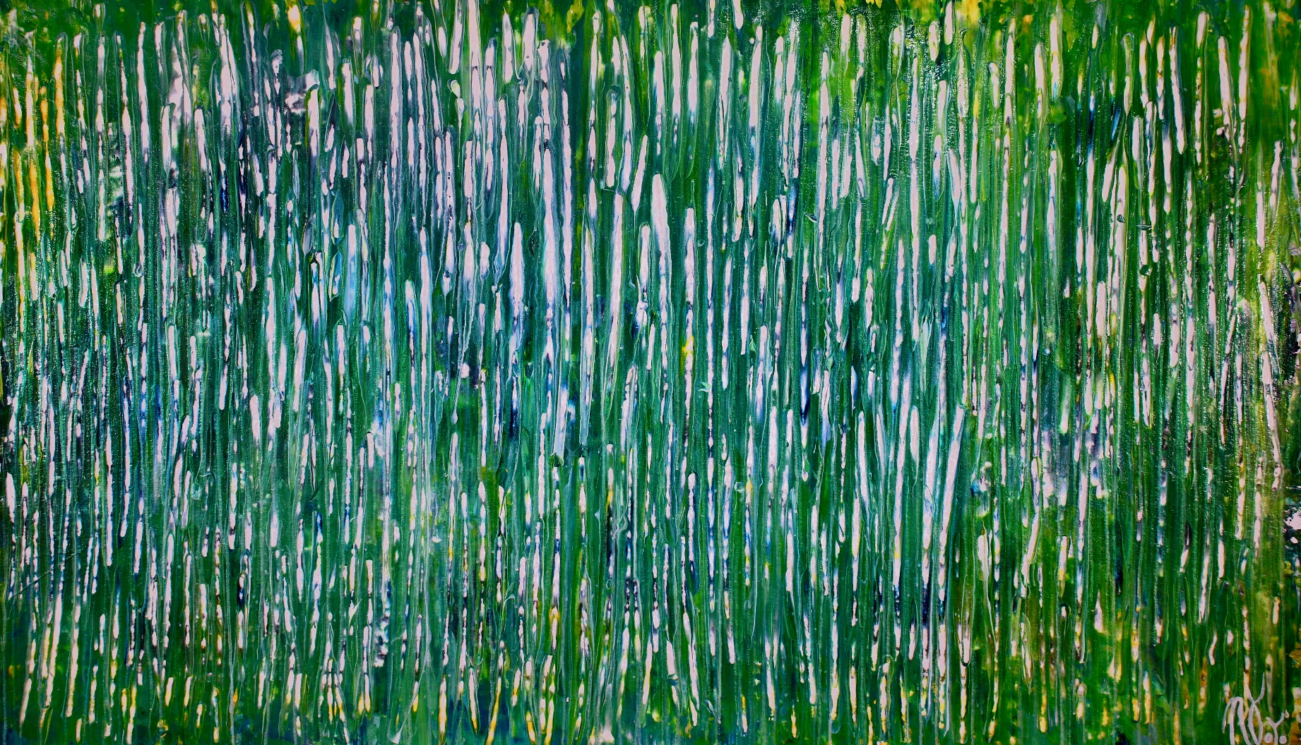 A closer look - Shimmering forest by Nestor Toro (2019) Abstract Acrylic painting by Nestor Toro