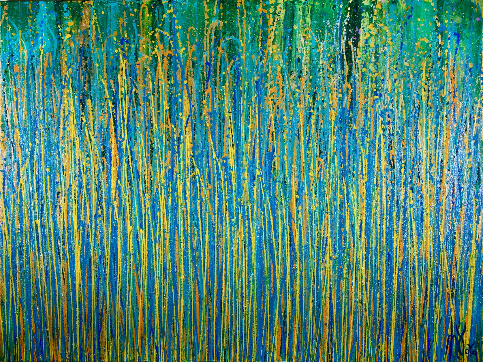 Full Image - Under the morning sun - abstract painting by Nestor Toro