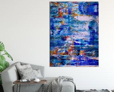 Island coast (Tide Pools) (2019) Abstract Acrylic painting by Nestor Toro