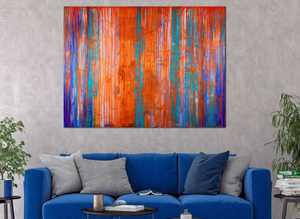 NEW SERIES - A closer look (optical spectra) (2019) Abstract Acrylic painting by Nestor Toro