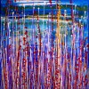 SOLD - Interrupted panorama 6 by Nestor Toro (2019) Abstract Acrylic painting by Nestor Toro