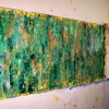 Artist Nestor Toro and recently large abstract completed work