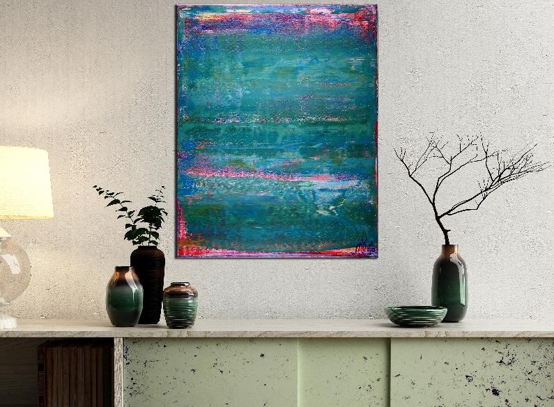 Shades of Aqua Green by Nestor Toro