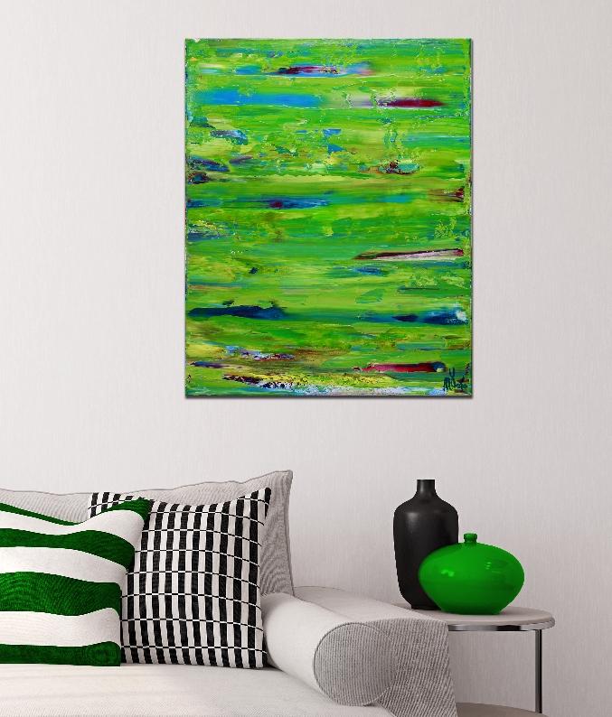 ROOM VIEW - Verde Caribe 2 by Nestor Toro