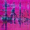 Detail View - Distant pink panorama (2019) Abstract acrylic painting by Nestor Toro