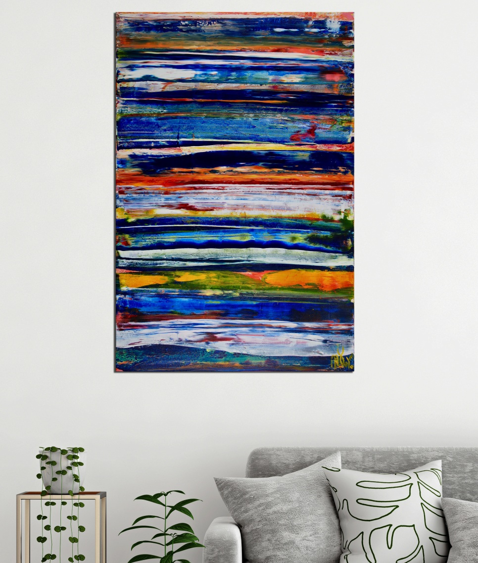 ROOM VIEW - Interrupted Blue Spectra 2 by Nestor Toro in Los Angeles 2019