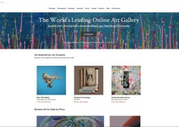 """Nestor Toro's abstract painting """"Daydream Panorama 2"""" displayed on the Saatchi Art home page September 9th - 14th, 2019"""