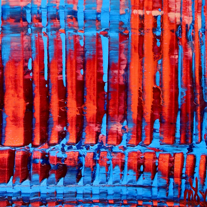 Detail - Orange and blue with light by Nestor Toro