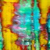 Detail - Yellow Fusion 2 - acrylic painting by Nestor Toro