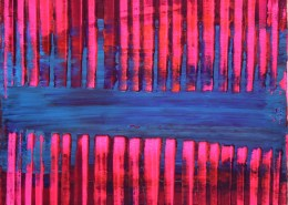 SOLD - Pink and Blue (Visible lights) by Nestor Toro - Los Angeles
