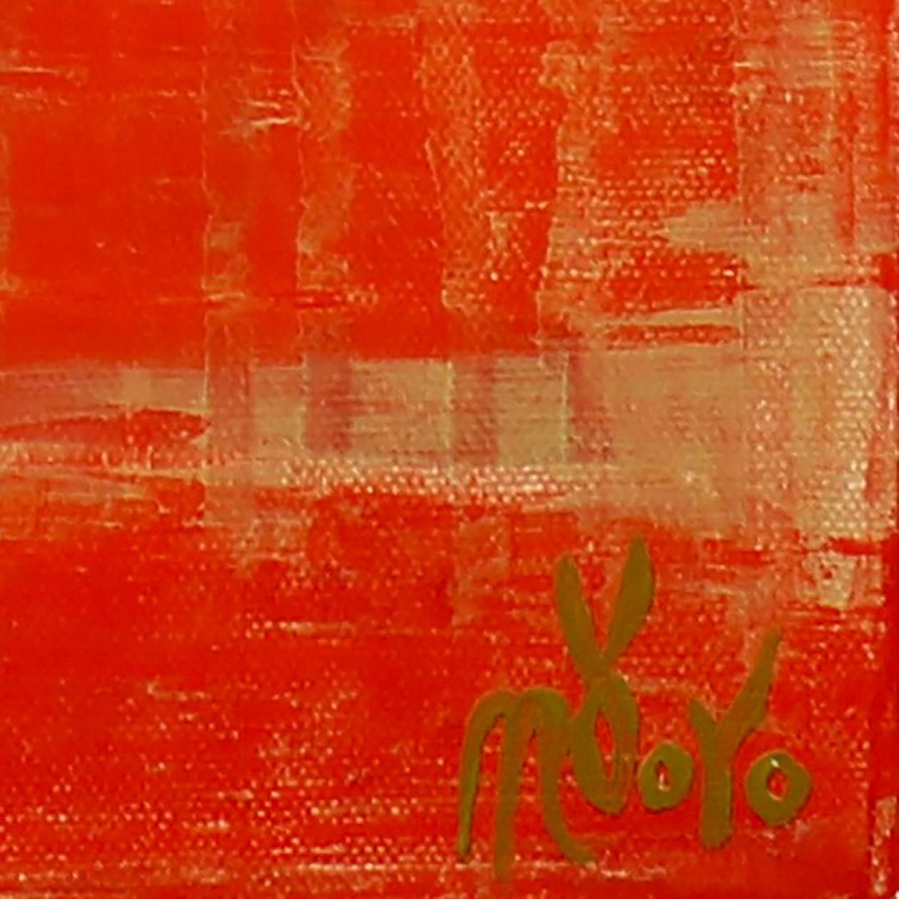 SOLD - Sunset paradise 4 (Metallic Orange Spectra) Painting by Nestor Toro